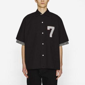 オープンカラービッグシャツ(5分袖)STUDIO SEVEN