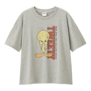 レディースビッグT(5分袖)Looney Tunes2グレー