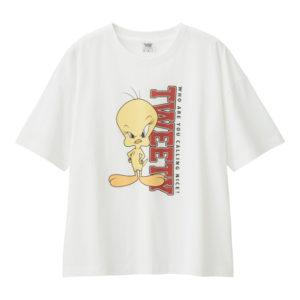 レディースビッグT(5分袖)Looney Tunes2ホワイト