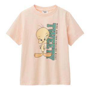 KIDS Tシャツ(半袖)Looney Tunes1ピンク