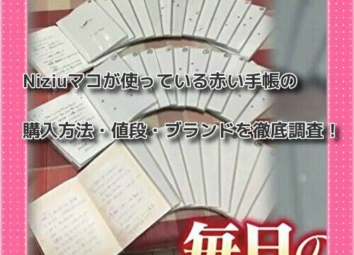 Niziuマコが使っている赤い手帳の購入方法・値段・ブランドを徹底調査!